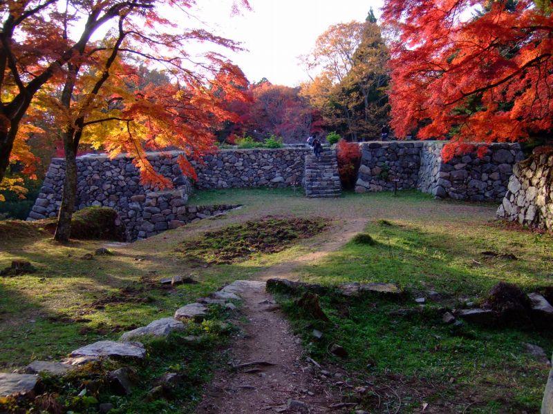 日本三大山城 高取城の紅葉