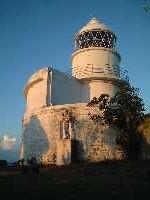 樫野崎灯台と黒木兄弟(弟)。