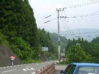 熊野古道中辺路から三日森山、高尾山を望む。