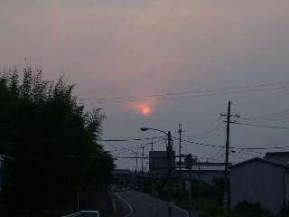 夕日。全然綺麗くない(w