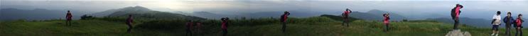 生石高原 生石ヶ峰からの360度パノラマ