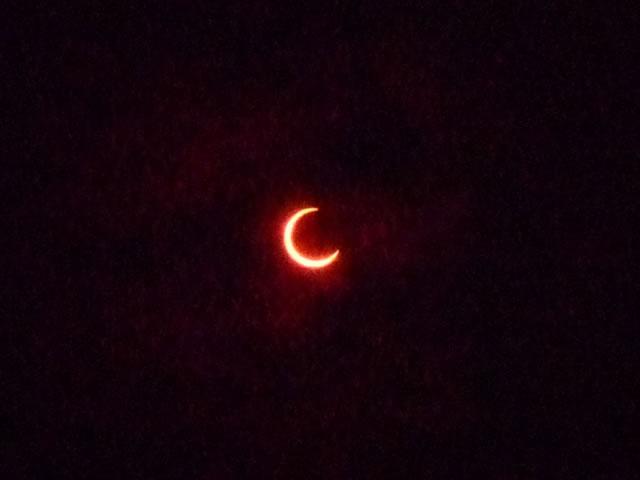 金環日食を見学