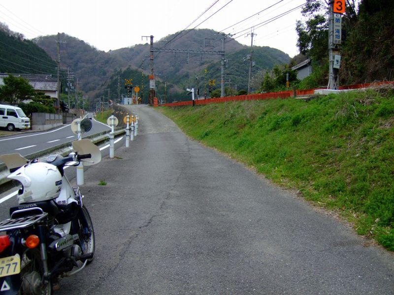 スーパーカブ70で滝畑~落合山中を散策