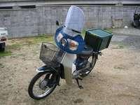 風防を装着したスーパーカブ